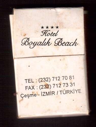 Turquie pochette d'allumettes hôtel Boyalik Beach Cesme - Izmir Framissima contient 3 allumettes