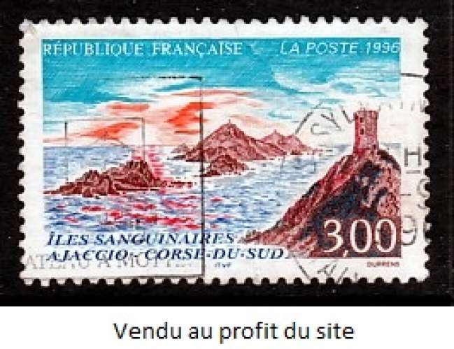 TIMBRE OBLITERE DE FRANCE - VUE DES ILES SANGUINAIRES N° Y&T 3019