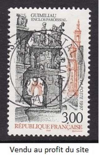 TIMBRE OBLITERE DE FRANCE - GUIMILIAU, FINISTERE N° Y&T 3080