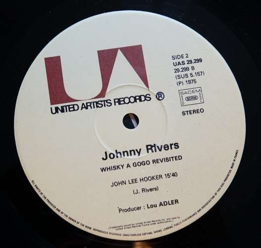 France 19 Vinyl LP  stéréo Johnny Rivers