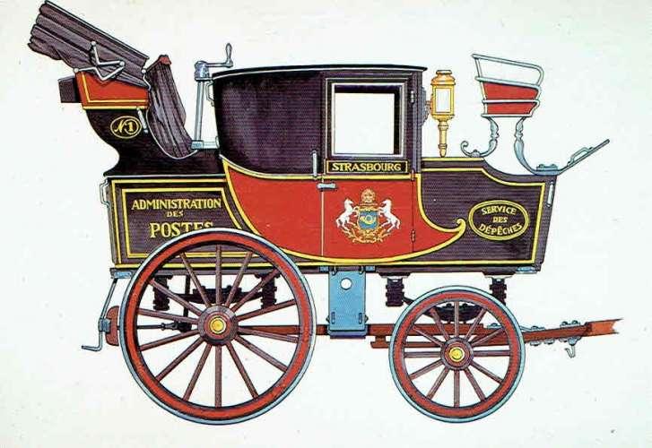RIQUEWIHR : Musée d'Histoire des P.T.T. - Malle poste coupé (1837)
