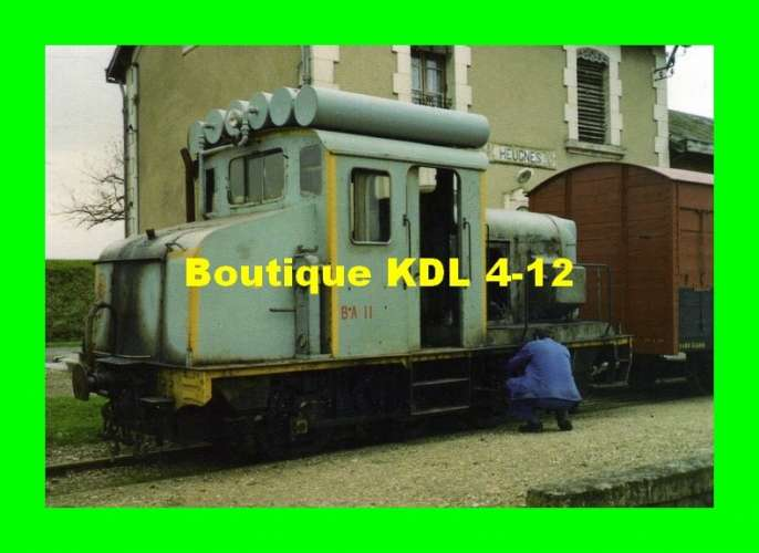 AL 307 - Train - locotracteur BA 11 en gare - HEUGNES - Indre - BA