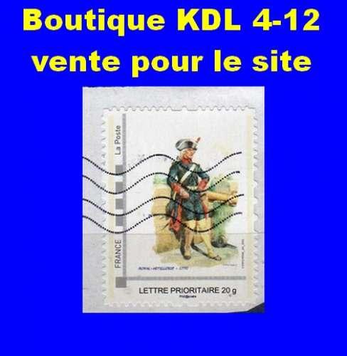 FRANCE - Oblitéré sur fragment - AA Royal Artillerie 1770