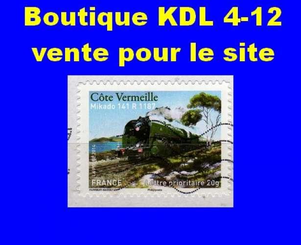 FRANCE - Oblitéré sur fragment - AA 1003 Côte Vermeille - Mikado 141 R 1187