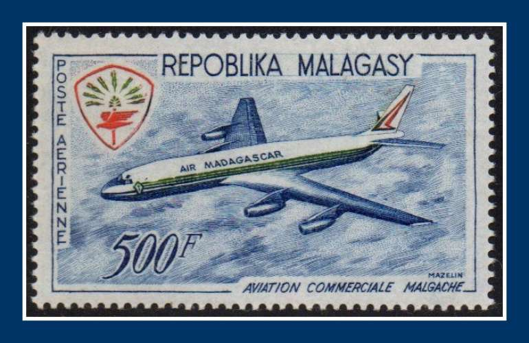 Madagascar N° PA 88 * (infime trace comme ** (cote 10,50 €) Avion