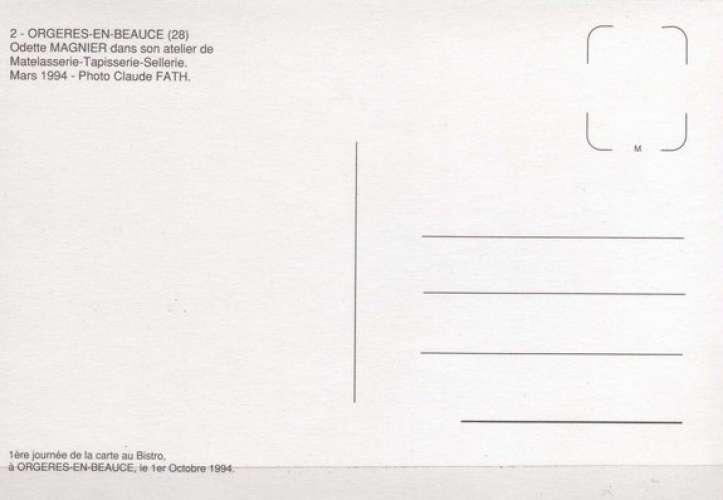 CaB 1994-2 - Odette MAGNIER matelassière à ORGERES EN BEAUCE - Eure et Loir