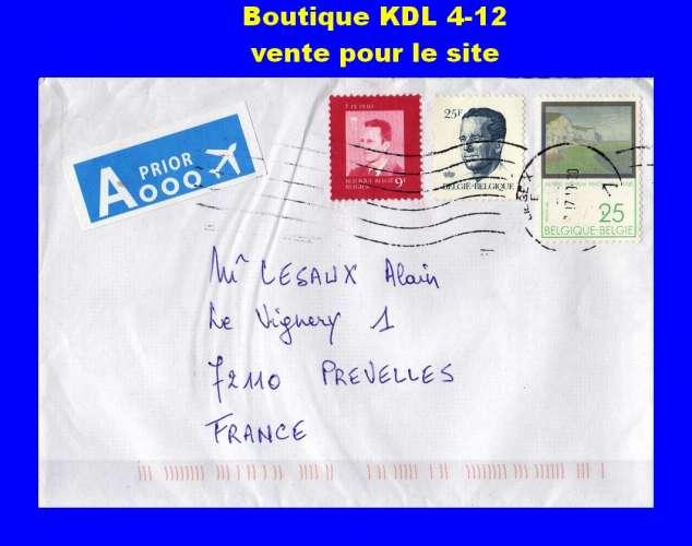 BELGIQUE - Oblitérés sur lettre -