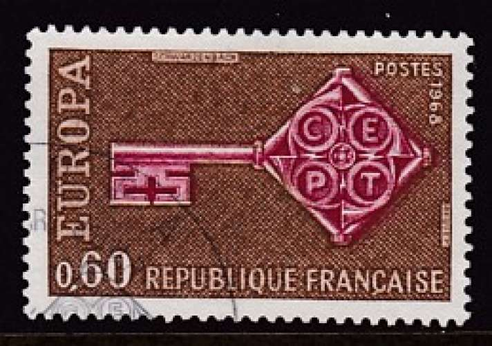 TIMBRE OBLITERE DE FRANCE - EUROPA 1968 N° Y&T 1557