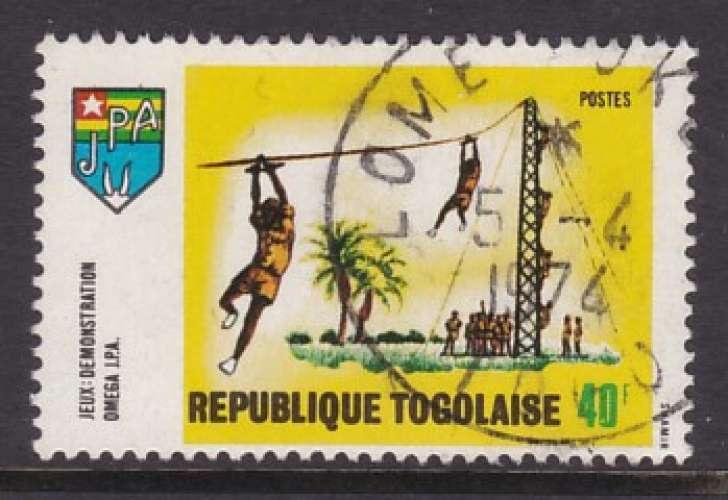 TIMBRE OBLITERE DU TOGO - JEUNESSE TOGOLAISE : JEUX N° Y&T 637
