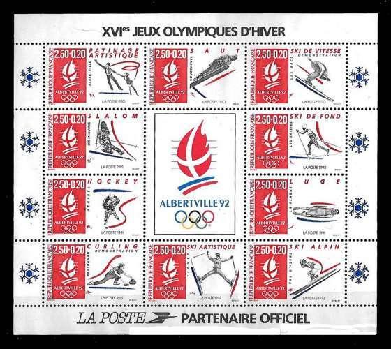 France - Bloc n° 14 ** Jeux Olympiques d'hiver - année 1992