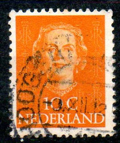 Pays-Bas Yvert N°513 Oblitéré 1949 Reine JULIANA 10ct