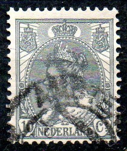 Pays-Bas Yvert N°53 Oblitéré 1898 Reine Wilhemine 10ct