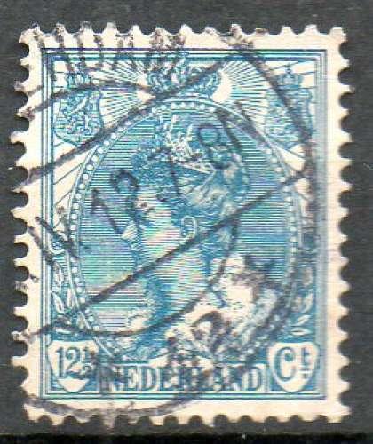 Pays-Bas Yvert N°54 Oblitéré 1898 Reine Wilhemine 12ct