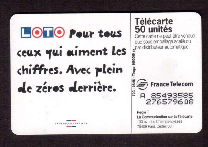 télécarte France 1998 ne caressez pas ce 1, il a une énorme puce sur l'oreille - 50 unités