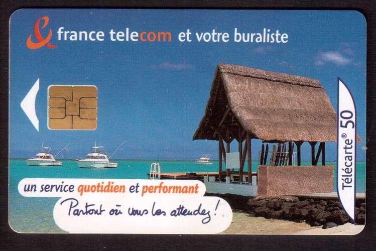 télécarte France 2001 France telecom et votre buraliste un service quotidien performant - 50 unités