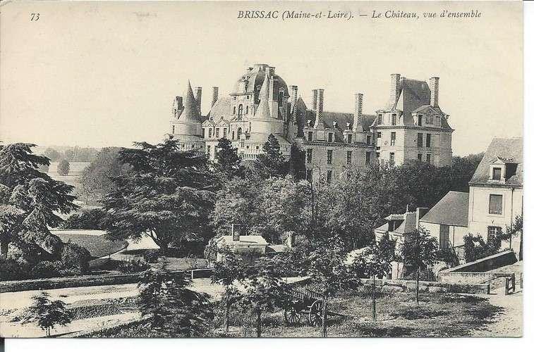 CPA - 49 - Brissac - Château - Dos scanné