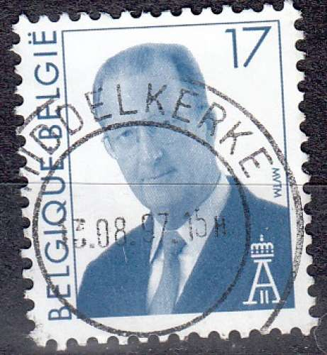 Belgique 1996 COB 2680 O Cote (2016) 0.15 Euro Roi Albert II Cachet rond