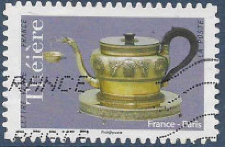FRANCE 2018 : yt 1625 Oblitéré/Used  # Théières - Paris