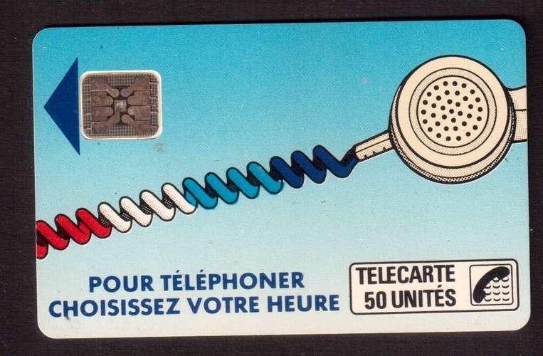 télécarte France télécom  Pour téléphoner choisissez votre heure  - télécarte 50 unités