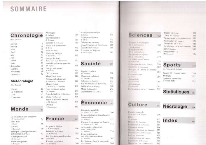 France Journal de l'Année édition 1996 Larousse du 1er janvier au 31 décembre 1995 comme neuf