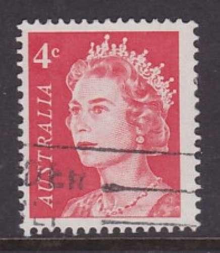 TIMBRE OBLITERE D'AUSTRALIE - ELIZABETH II (SERIE COURANTE 1966-70) N° Y&T 322