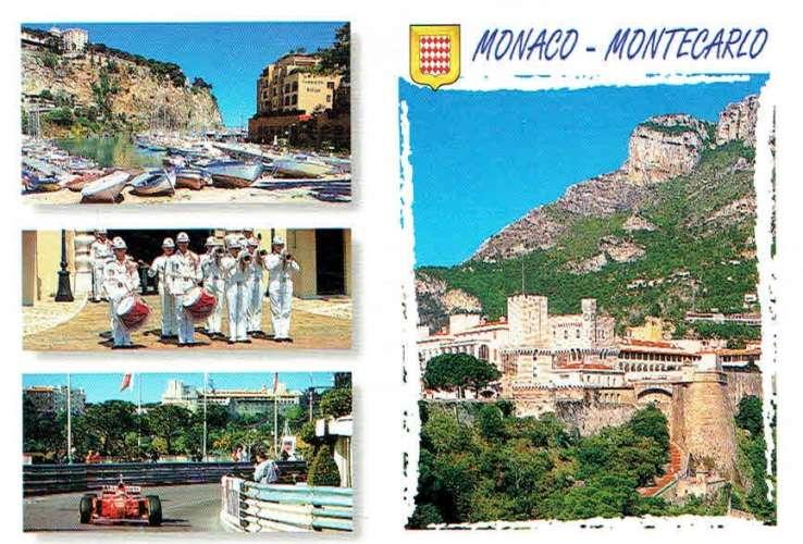 MONACO-MONTECARLO : Multivues - Très beaux affr philatéliques