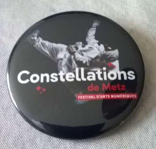 Badge épinglé Constellations de Metz Festival d'Arts Numériques