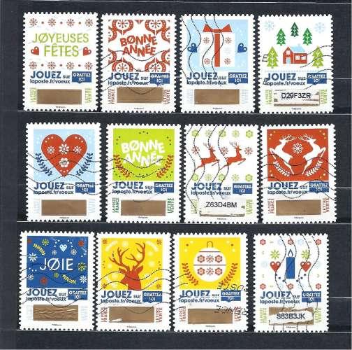 2018  Voeux timbres à gratter Série compléte