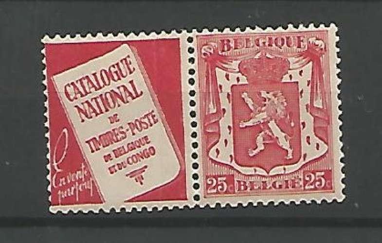 Belgique - 1936 / 37 - Catalogue National - Pub N° 76 - Neuf **