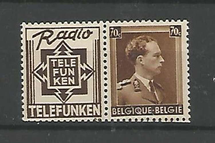 Belgique - 1936 / 37 - Telefunken - Pub N° 98 - Neuf **