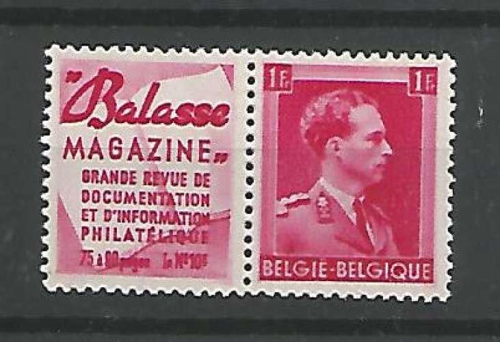 Belgique - 1941 - Balasse magazine - Pub 143 - Neuf **