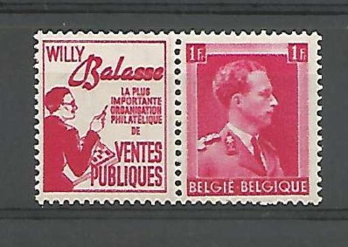 Belgique - 1941 - Balasse VP - Pub 144 - Neuf **