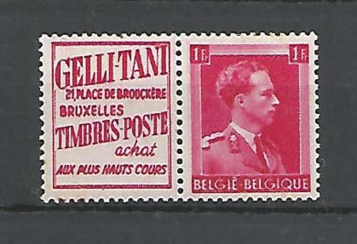 Belgique - 1941 - Gelli Tani - Pub 147 - Neuf **