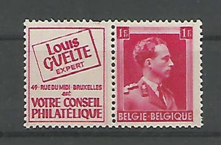 Belgique - 1941 - Louis Guelte - Pub 151 - Neuf **