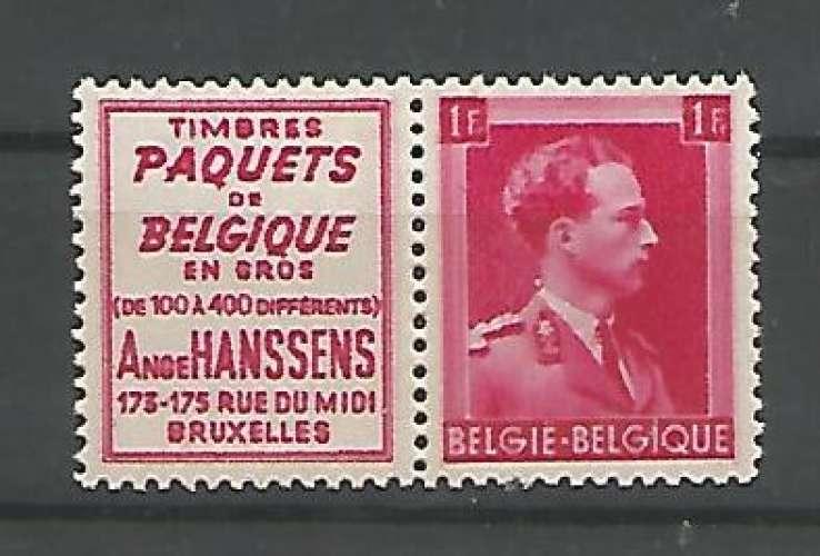 Belgique - 1941 - Ange Hanssens Paquets - Pub 152 - Neuf **
