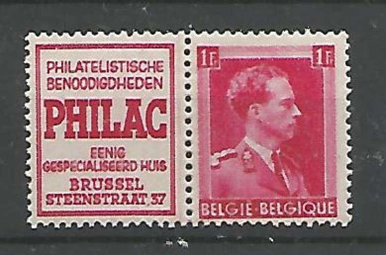 Belgique - 1941 - Philac Nl - Pub 155 - Neuf **