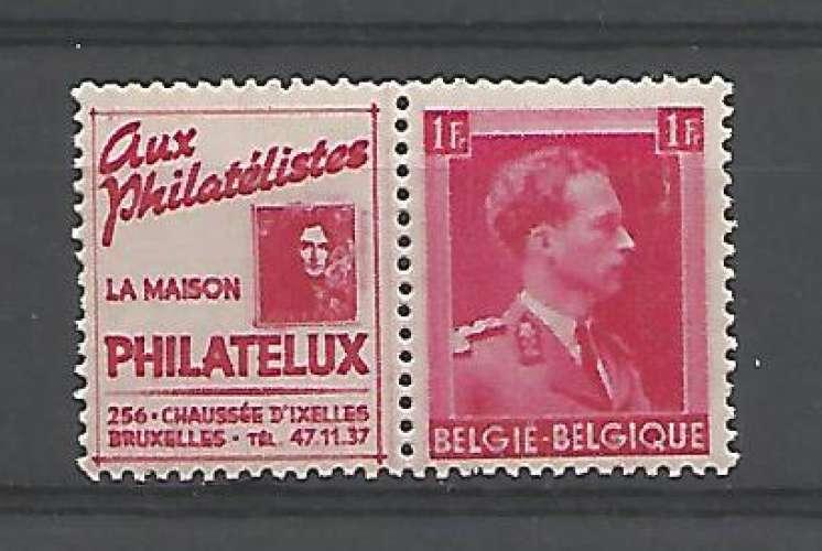 Belgique - 1941 - Philatelux - Pub 156 - Neuf **
