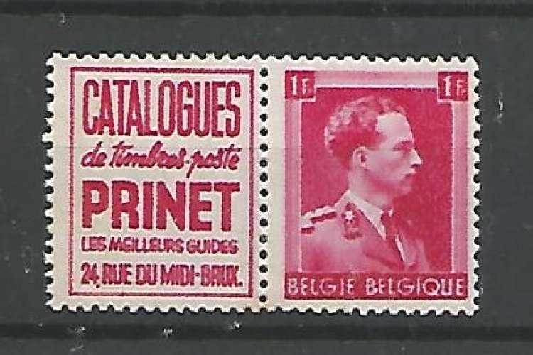 Belgique - 1941 - Prinet - Pub 160 - Neuf **