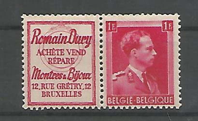 Belgique - 1941 - Romain Dury - Pub 161 - Neuf **