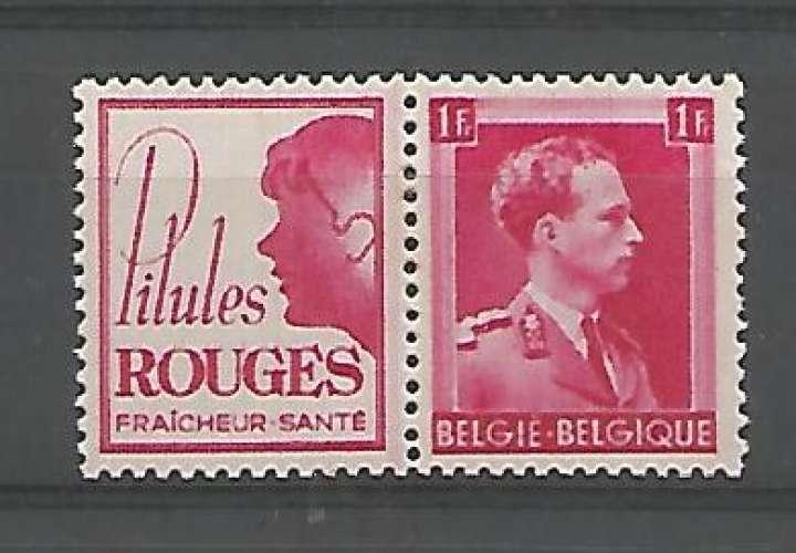 Belgique - 1941 - Pilules Rouges Enfants - Pub 159 - Neuf **