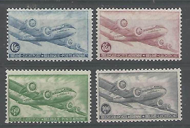 Belgique - 1946 - DC 4 Skymarter - Tp Aér 8 / 11 - Neuf **