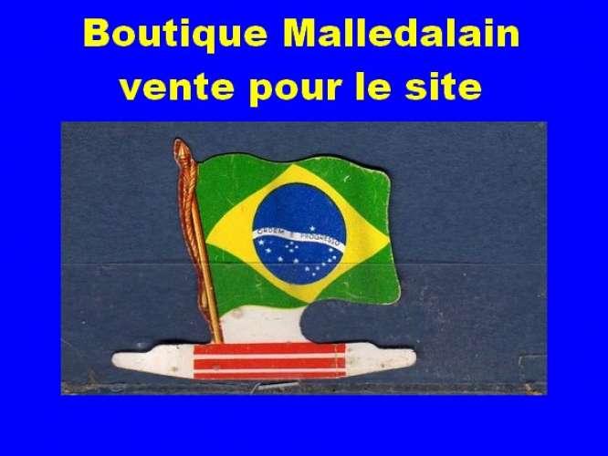 Drapeau métallique des Biscuits l'Alsacienne - Brésil