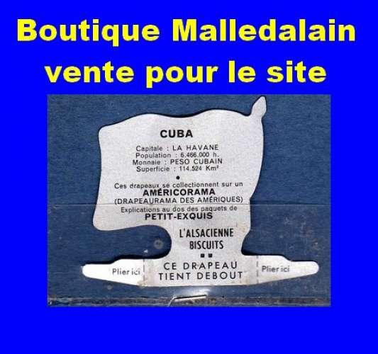 Drapeau métallique des Biscuits l'Alsacienne - Cuba