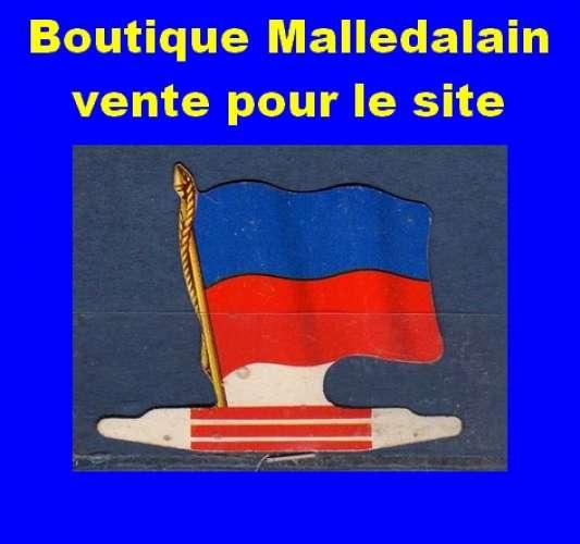 Drapeau métallique des Biscuits l'Alsacienne - Haïti