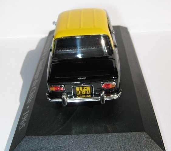Renault 8 - Taxi de SANTIAGO - Chili - Echelle 1/43 ème