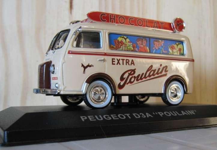 Peugeot D3 - Chocolat POULAIN - Echelle 1/43