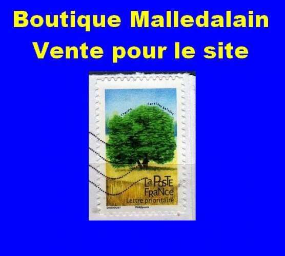 FRANCE - Oblitéré sur fragment - AA 1608 Charme - Carpinus betulus - TCA 068
