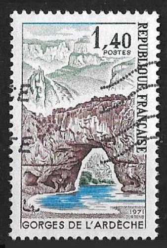 France 1974 - Y&T 1788 (o) - Gorges de l'Ardèche