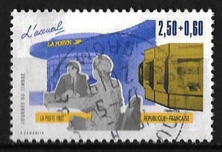 France 1992 - Y&T 2743 (o) - Journée du timbre - L'accueil
