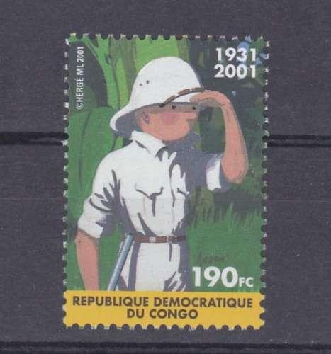 Congo Kinshasa 2001 2092 ** Tintin Émission commune Belgique